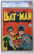 Golden Age (1938-1955):Superhero, Batman #8 (DC, 1942) CGC VG- 3.5 Cream to off-white pages....