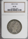 Barber Half Dollars: , 1892-O 50C VF35 NGC. NGC Census: (2/186). PCGS Population (2/191).Mintage: 390,000. Numismedia Wsl. Price for NGC/PCGS coi...