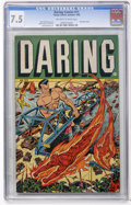 Golden Age (1938-1955):Superhero, Daring Comics #11 (Timely, 1945) CGC VF- 7.5 Off-white to white pages....