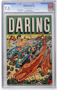 Daring Comics #11 (Timely, 1945) CGC VF- 7.5 Off-white to white pages