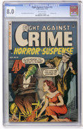 Golden Age (1938-1955):Horror, Fight Against Crime #16 (Story Comics, 1953) CGC VF 8.0 Off-whitepages....