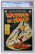 Golden Age (1938-1955):Science Fiction, Mystery in Space #5 (DC, 1952) CGC FN/VF 7.0 Off-white pages....