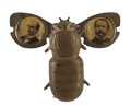 Political:Pinback Buttons (1896-present), McKinley & Hobart: Jugate Automated Gold Bug Pin,...