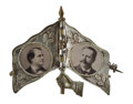 Political:Pinback Buttons (1896-present), William Jennings Bryan: Mechanical Flag with Portraits...