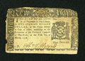 Colonial Notes:New York, New York March 5, 1776 $1 Very Fine....