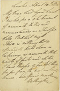 Autographs:Non-American, Autograph Letter Signed by the Duke of Wellington. Two pagesincluding integral blank, 8vo, London, April 12, 1882. ...