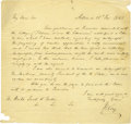 Autographs:Statesmen, Henry Clay Autograph Letter Signed. ...
