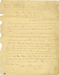 Autographs:Military Figures, General John C. Breckinridge War-Dated Letter Signed Regarding Troop Movements....
