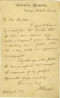 Autographs:U.S. Presidents, Abraham Lincoln Manuscript Letter Signed as President. ...