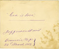 Autographs:Statesmen, Jefferson Davis Autograph Quotation Signed. ...