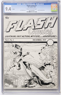 Flash Comics #1 Ashcan Edition (DC, 1939) CGC NM 9.4 Cream to off-white pages