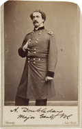 Military & Patriotic:Civil War, Abner Doubleday Twice Signed Civil War Carte-de Visite....