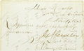 Autographs:Military Figures, George A. Custer Signed Endorsement as Brigadier General. ...
