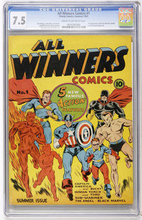 All Winners Comics #1 (Timely, 1941) CGC VF- 7.5 Cream to off-white pages