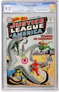 Silver Age (1956-1969):Superhero, The Brave and the Bold #28 Justice League of America (DC, 1960) CGCNM- 9.2 Off-white pages....