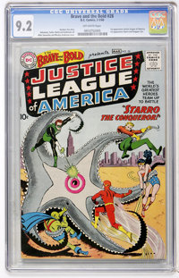 The Brave and the Bold #28 Justice League of America (DC, 1960) CGC NM- 9.2 Off-white pages