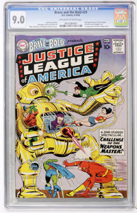 The Brave and the Bold #29 Justice League of America (DC, 1960) CGC VF/NM 9.0 Off-white to white pages