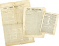 Military & Patriotic:Civil War, Three Union Regimental Newspapers Published in the Field.... (Total: 3 Items)