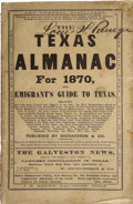 Books:Periodicals, W. Richardson. Texas Almanac for 1870 and Emigrant's Guide toTexas. ...