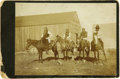 Photography:Cabinet Photos, Cabinet Card Photograph of Four Indians on Horseback, ca. 1890s....
