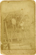Photography:Cabinet Photos, Cabinet Card Death Photograph of Chinese Man Lynched in Colusa, California, 1881.. ...