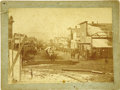 Photography:Cabinet Photos, Imperial Size Photograph of Street Scene in Leadville, Colorado,ca. 1880s....