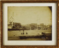 Photography:Official Photos, Dock Scene at Major North Central Port Imperial Size Photograph ca1880s....