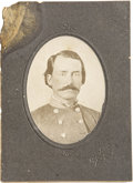 Photography:Cabinet Photos, Cabinet Card Photograph Greenville, Texas Confederate Officer Copyof Tintype ca 1890's -...