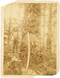 Photography:Cabinet Photos, TEXAS SHERIFF ALBERT BODEMAN OF KENDALL CO. - SCENE FROM THE PINEYWOODS NEAR CROCKETT, TEXAS - IMPERIAL CARD - ca. 1880-95....