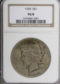 Peace Dollars: , 1928 $1 VG8 NGC. NGC Census: (2/3932). PCGS Population (1/6128).Mintage: 360,649. Numismedia Wsl. Price for NGC/PCGS coin ...