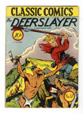 Golden Age (1938-1955):Classics Illustrated, Classic Comics #17 The Deerslayer - Original Edition (Gilberton, 1944) Condition: VG....
