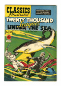 Golden Age (1938-1955):Classics Illustrated, Classics Illustrated #47 Twenty Thousand Leagues Under the Sea -Original Edition (Gilberton, 1948) Condition: FN/VF....