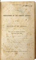 Books:Non-fiction, Journal of the Proceedings of the General Council of theRepublic of Texas. Held at San Felipe de Austin, November 14th1835...
