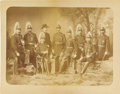 Photography:Cabinet Photos, Mammoth Plate Albumen Photograph of Full Dressed 5th InfantryIndian Wars Officers, ca. 1880s....