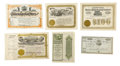 Miscellaneous:Ephemera, Lot of Six Stock Certificates,... (Total: 6 Items)