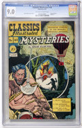Golden Age (1938-1955):Classics Illustrated, Classics Illustrated #40 Mysteries by Edgar Allan Poe - Original Edition (Gilberton, 1947) CGC VF/NM 9.0 Off-white to white pa...