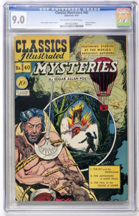 Classics Illustrated #40 Mysteries by Edgar Allan Poe - Original Edition (Gilberton, 1947) CGC VF/NM 9.0 Off-white to wh...