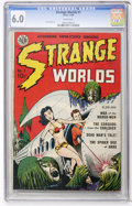 Golden Age (1938-1955):Science Fiction, Strange Worlds #1 (Avon, 1950) CGC FN 6.0 White pages....