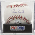 Autographs:Baseballs, Barry Bonds Single Signed Baseball PSA Gem Mint 10. The game's newHome Run King offers this pristine example of his signatu...