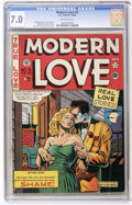 Golden Age (1938-1955):Romance, Modern Love #5 (EC, 1950) CGC FN/VF 7.0 Off-white pages....