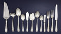 Silver & Vertu:Flatware, AN AMERICAN SILVER FLATWARE SERVICE. S. Kirk & Son, Baltimore, Maryland, circa 1927-1961. Marks: S. KIRK & SON, STERLING, ... (Total: 80 Items)