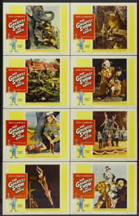 "The Greatest Show On Earth (Paramount, R-1960). Lobby Card Set of 8 (11"" X 14""). Drama.... (Total: 8 Items)"