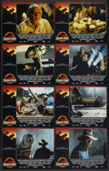 "Movie Posters:Science Fiction, Jurassic Park (Universal, 1993). Lobby Card Set of 8 (11"" X 14"").Science Fiction.... (Total: 8 Items)"