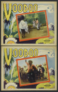 "Movie Posters:Documentary, Voodoo (Principal Distributing, 1933). Lobby Cards (2) (11"" X 14""). Documentary.... (Total: 2 Items)"