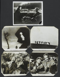 "The Seventh Seal (Svensk Filmindustri, 1957 and R-1960s). Black and White Stills (5) (8"" X 10""). Foreign.... (..."