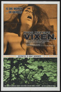 "Movie Posters:Adult, Vixen! (Eve Productions, 1968). One Sheet (27"" X 41""). Adult...."