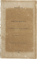 Political:Miscellaneous Political, [Mirabeau B. Lamar] Message of the President, Submitted to BothHouses, December 21, 1838. ...