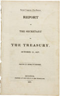 Political:Miscellaneous Political, [Henry Smith] Report of the Secretary of the Treasury, Oct. 13,1837. ...