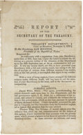 Political:Miscellaneous Political, [Henry Smith] Report of the Secretary of the Treasury. ...