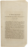 Books:Early Printing, [Texas Secession Convention.] A Declaration of the Causes WhichImpel the State of Texas to Secede from the Federal Unio...